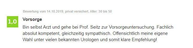 Erfahrung Dr. Seitz